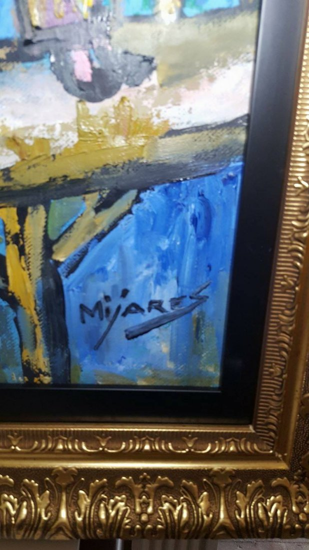 Jose Maria Mijares (1921-2004)-Oil on Canvas-  COA- - 3