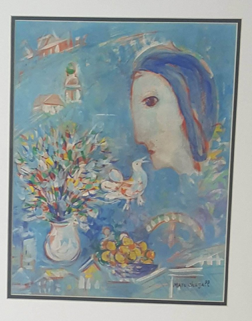 Marc Chagall (1887-1985)- Water color on Paper-ATTIB.
