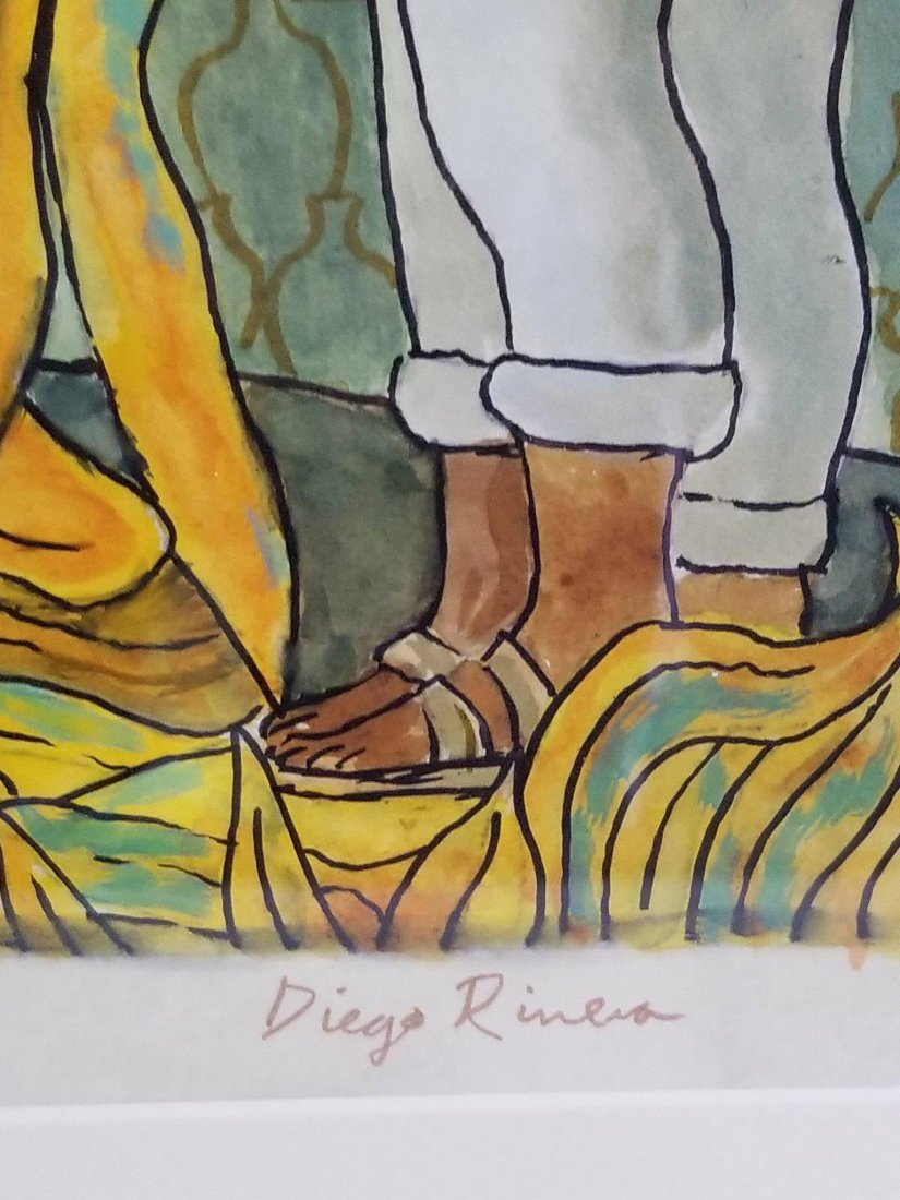 Diego Rivera(1886-1957) - Water color on paper- ATTRIB. - 3