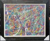 Jackson Pollock (1912-1956)(attrib)(coa) american paint