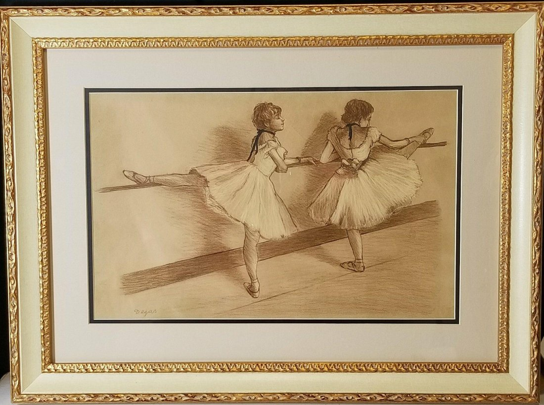 Edgar Degas-Girl dancer-Colored pastel/paper COA-Size: - 2