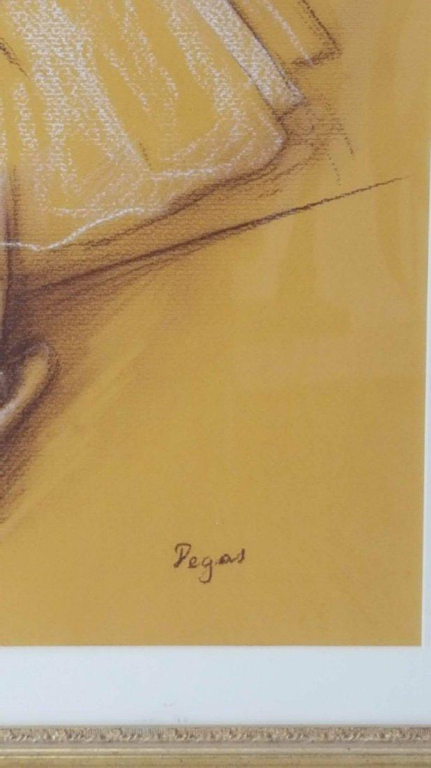 Edgar Degas-Girl dancer-Colored pastel/paper COA-Size: - 3