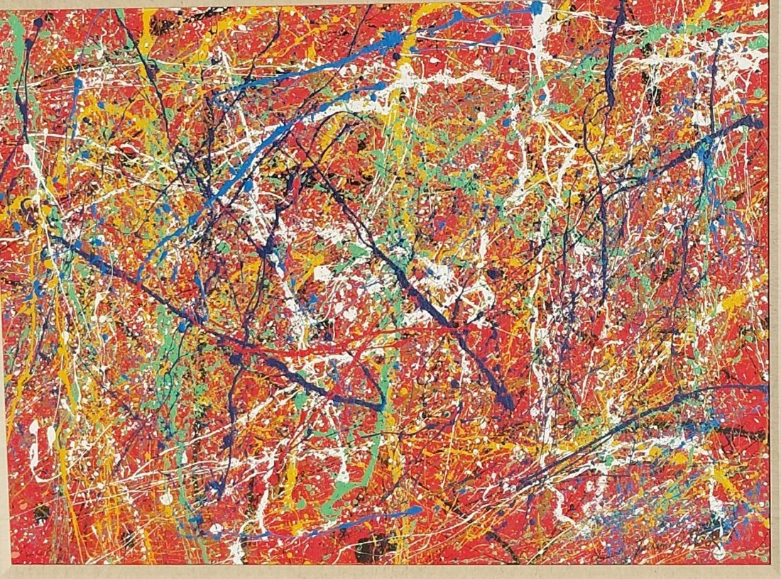 Jackson Pollock(1912-1956) house paint on canvas (attri