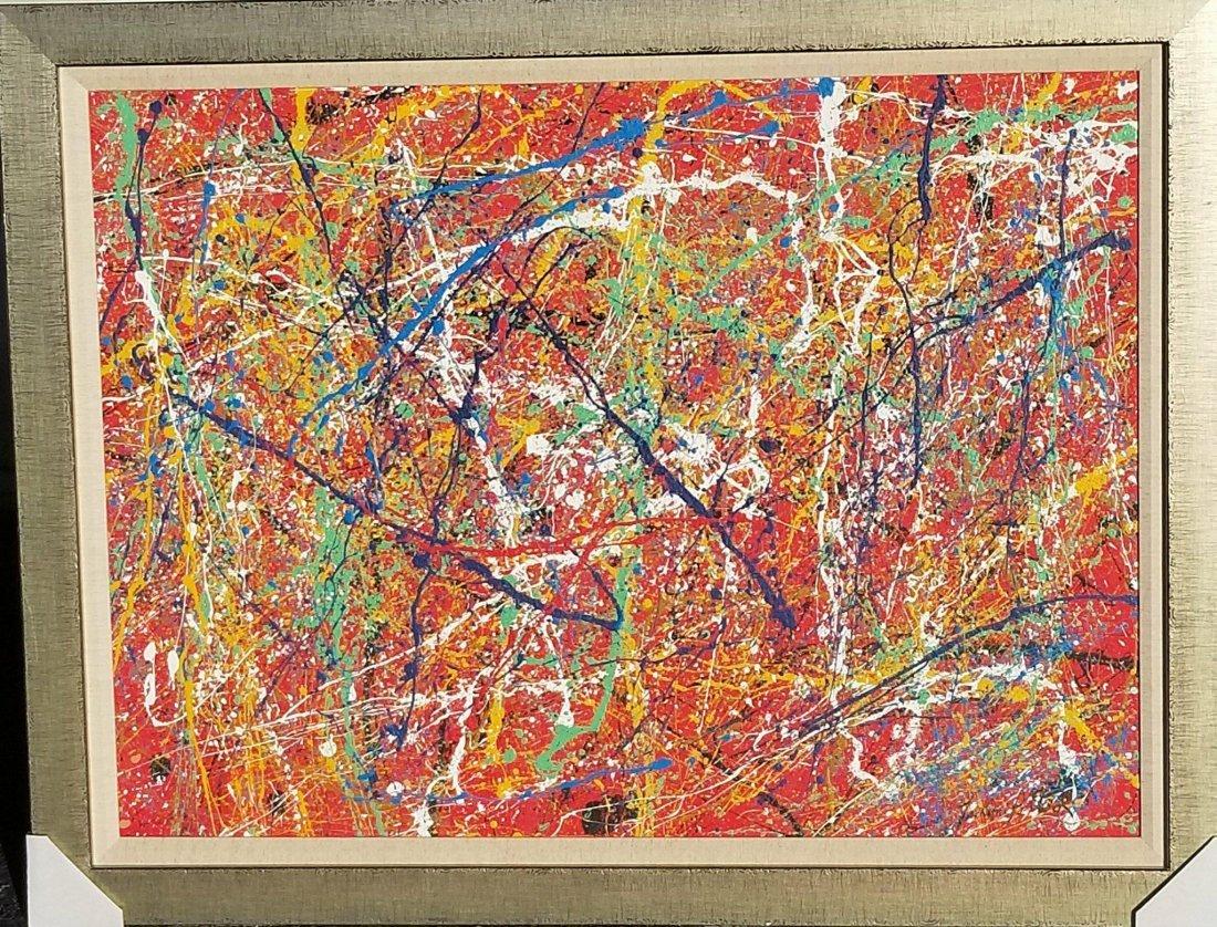 Jackson Pollock(1912-1956) house paint on canvas (attri - 2