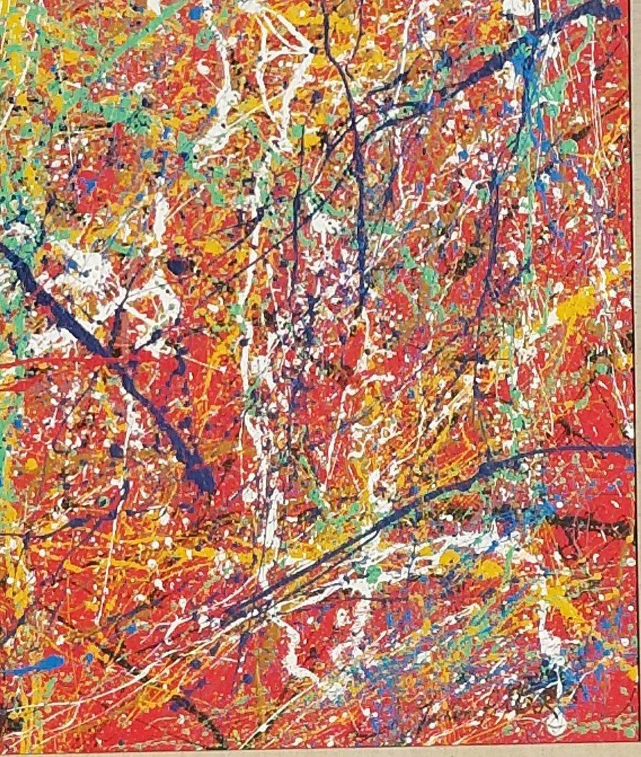 Jackson Pollock(1912-1956) house paint on canvas (attri - 3