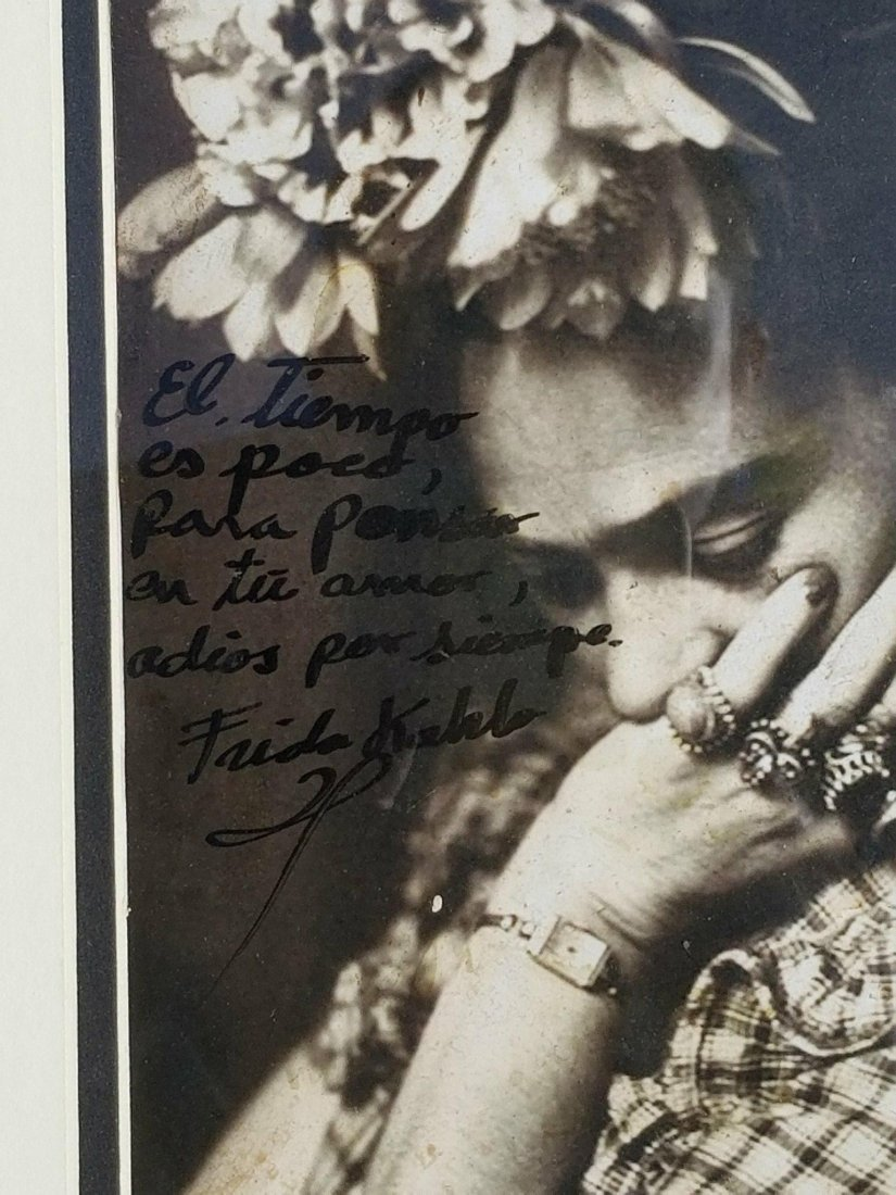 Frida Kahlo (1907-1954)Photograph ,signed by the - 2