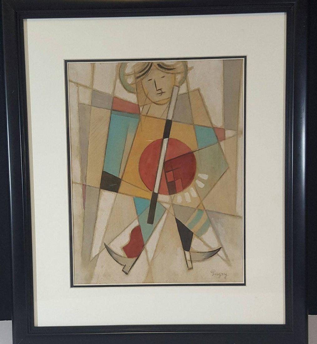 Jean Pougny (1892-1958) attrib (coa) Mixmidia on paper