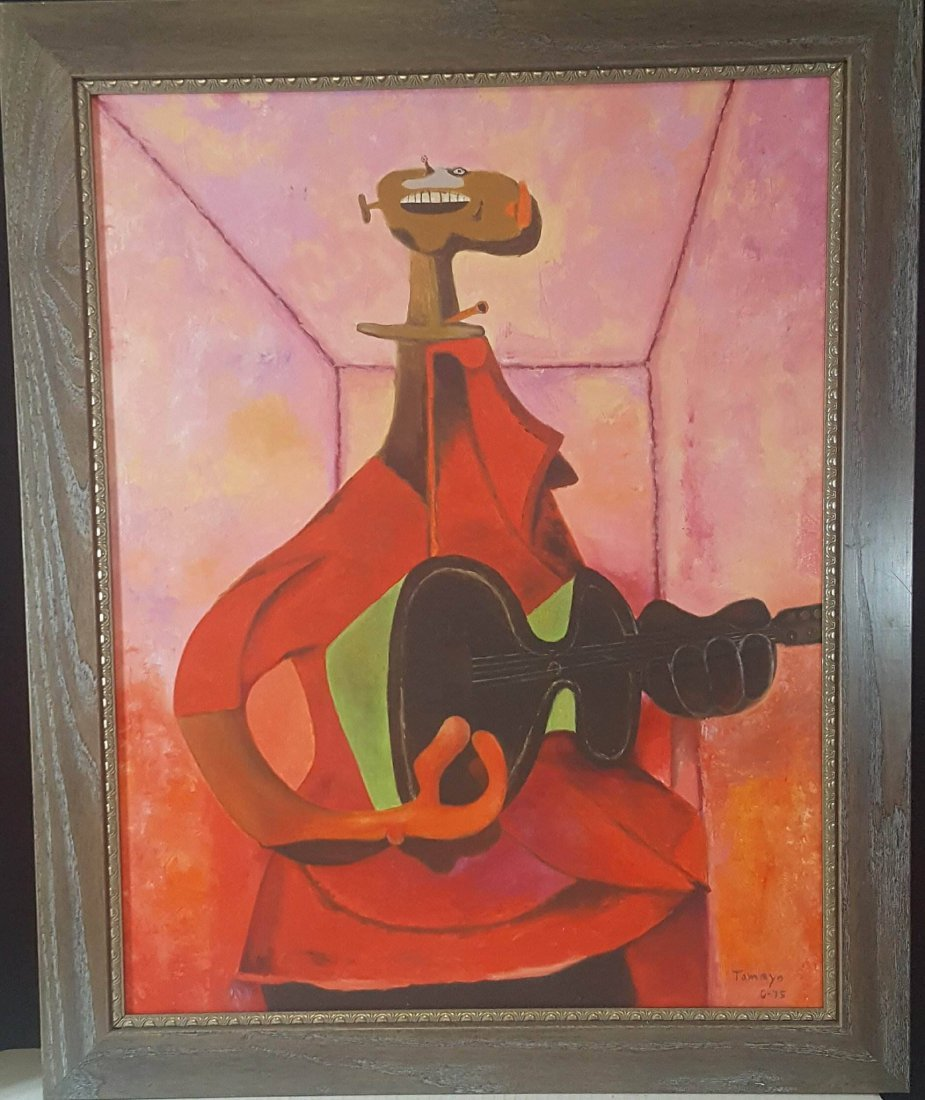 Rufino Tamayo (1899-1991)- The Guitar Player -Oil on
