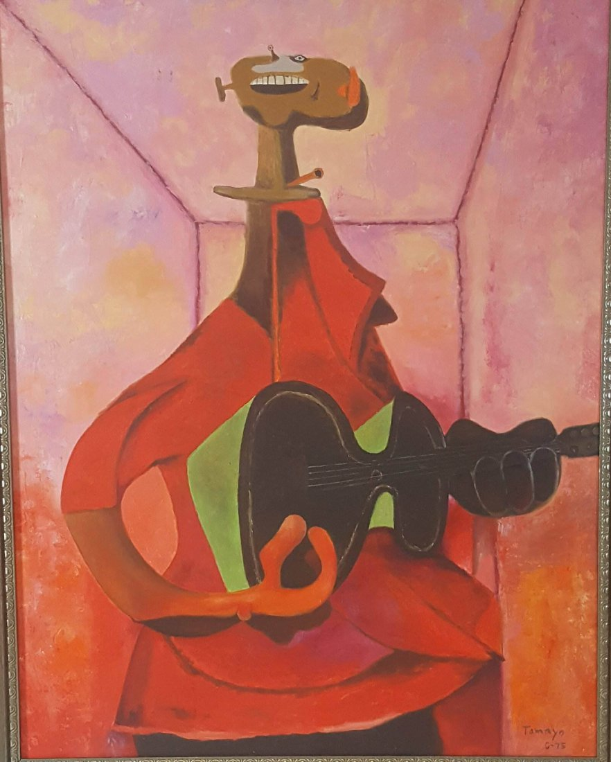 Rufino Tamayo (1899-1991)- The Guitar Player -Oil on - 2