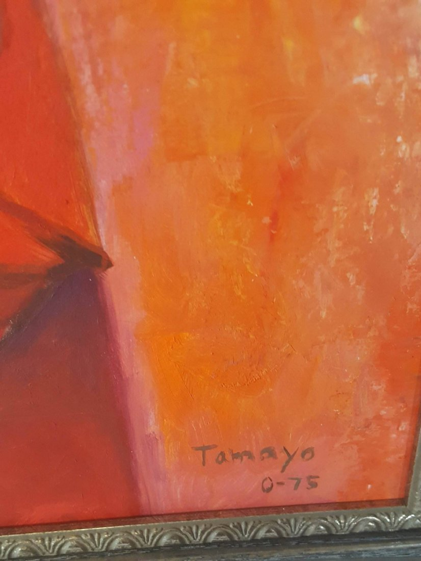 Rufino Tamayo (1899-1991)- The Guitar Player -Oil on - 3