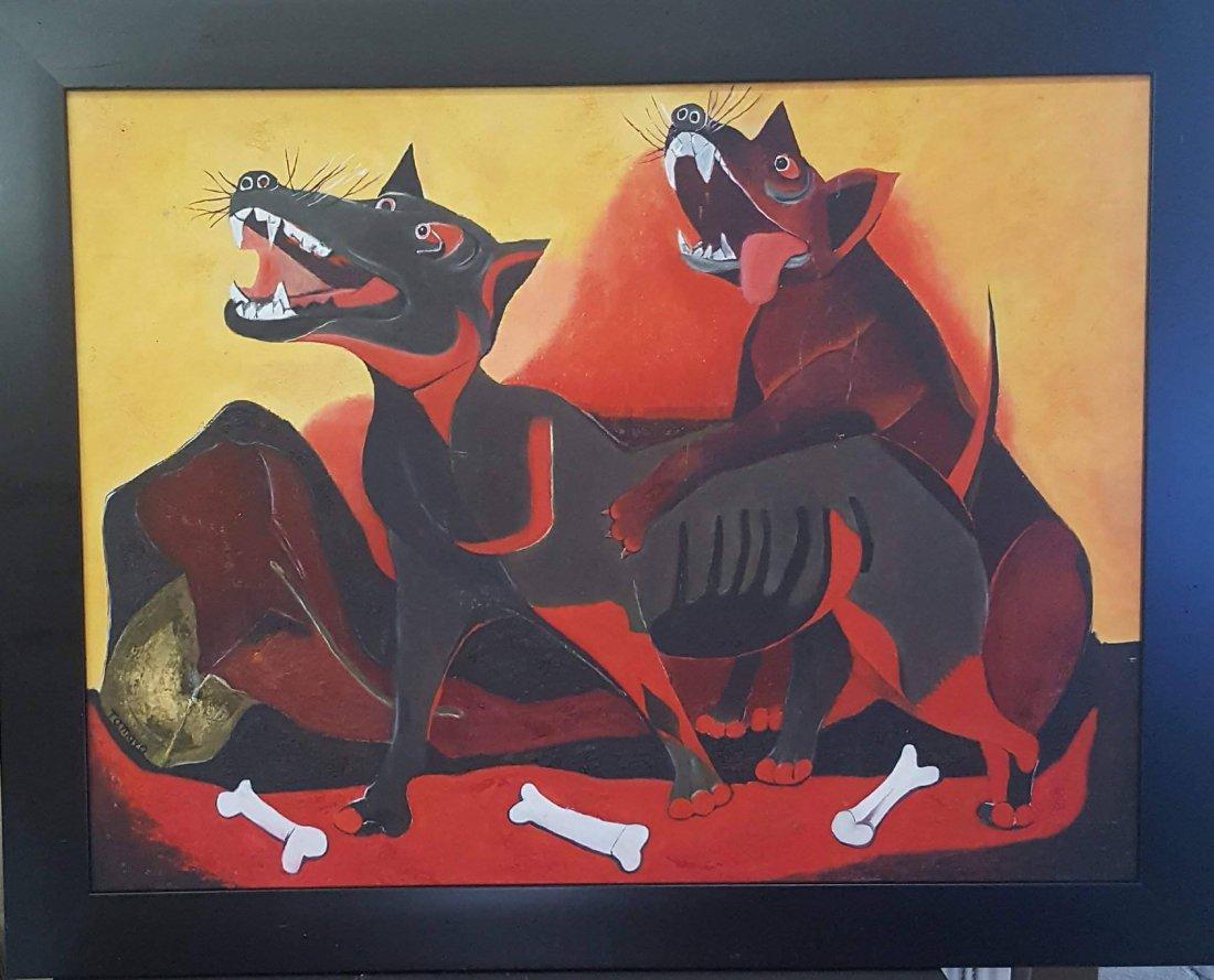 Rufino Tamayo (1899-1991)-Oil on panel- ATTRIB. COA-