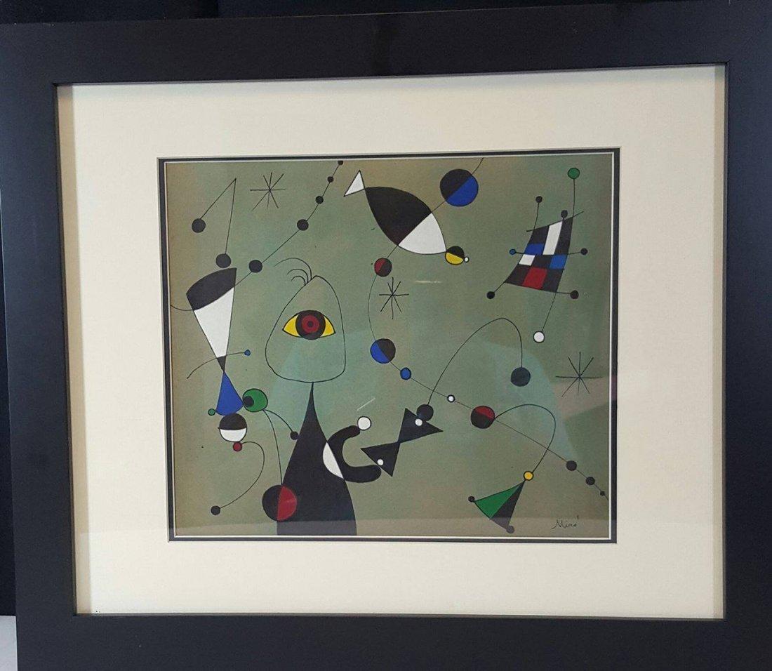 Joan Miro-(1893-1983)- Attrib (coa)-oil on paper-Size:
