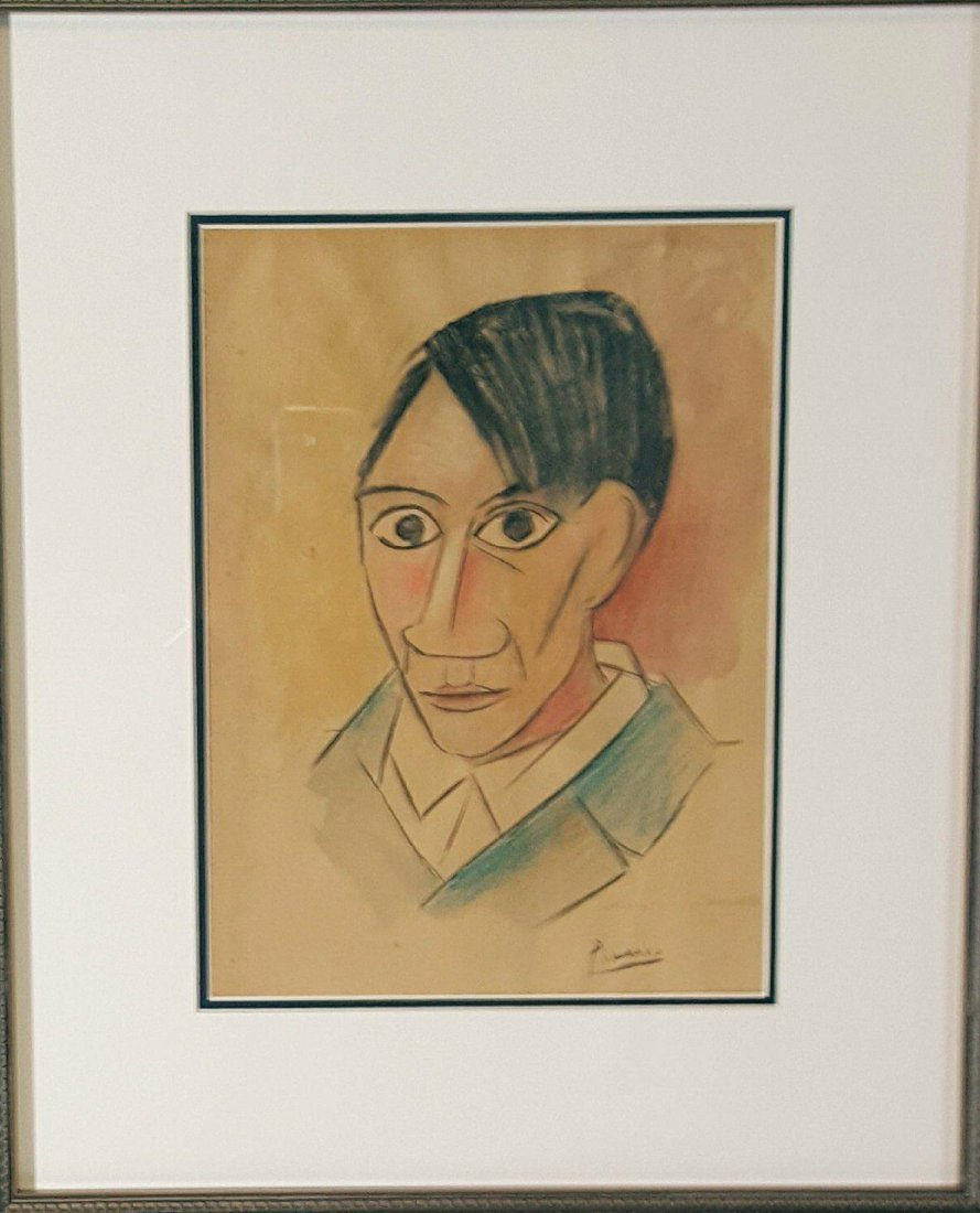 Pablo Picasso (1881-1973)-Colored pencil  on Paper-