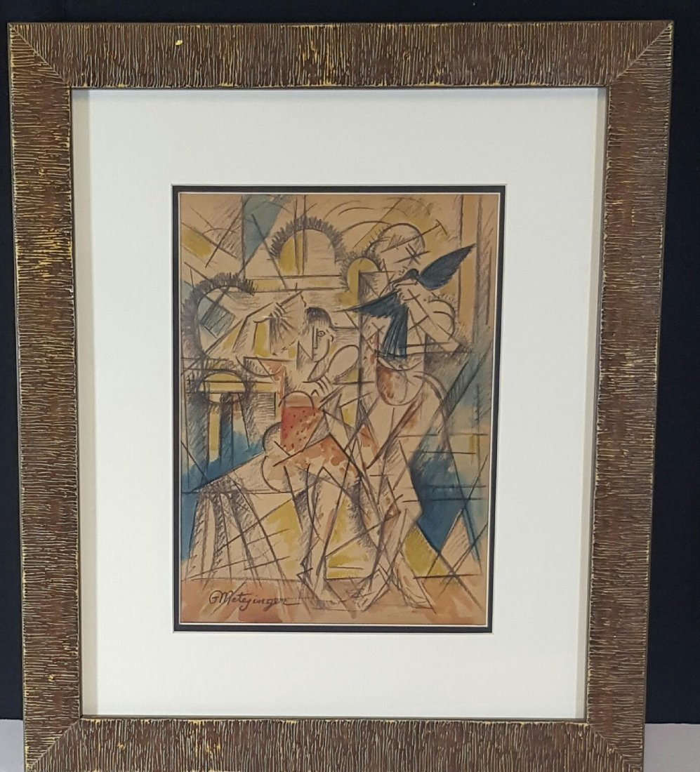 Jean Metzinger (1883-1956)-French Artisit-Mixed Media