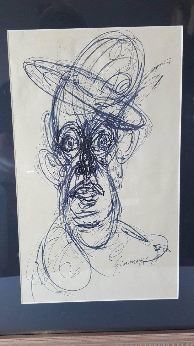 Alberto Giacometti (1901-1966) Ink on Paper- COA