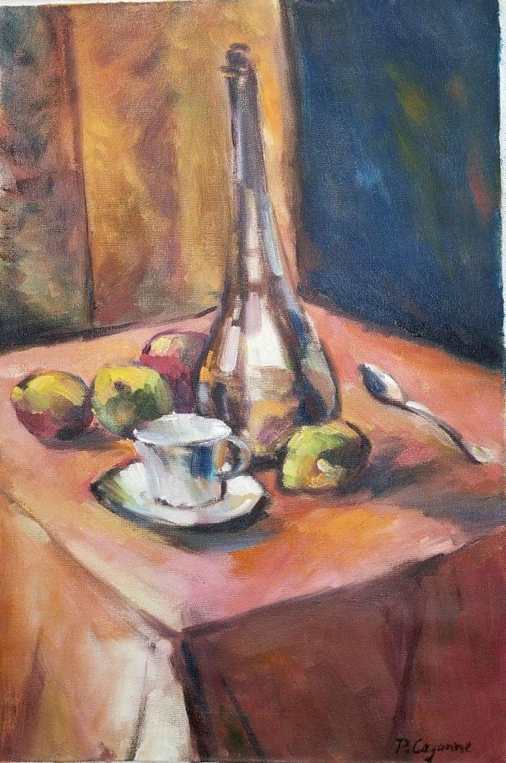 "Poul Cezanne oil on canavas 18""h x 12""w"