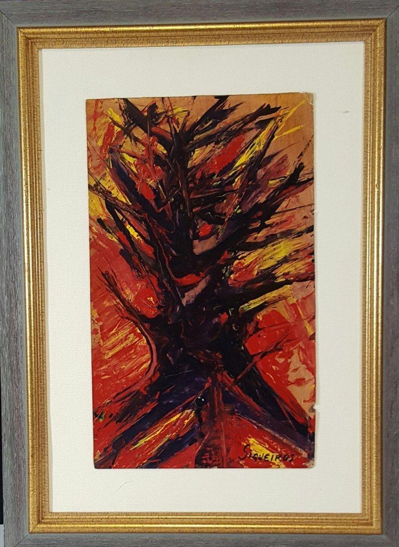 David Alfaro Siqueiros- Burning Tree-Attrib. COA-Size: