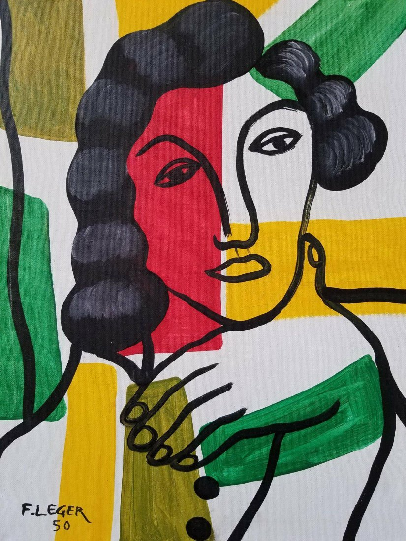 Fernand Leger (1881-1955)- OIL ON CANVAS/