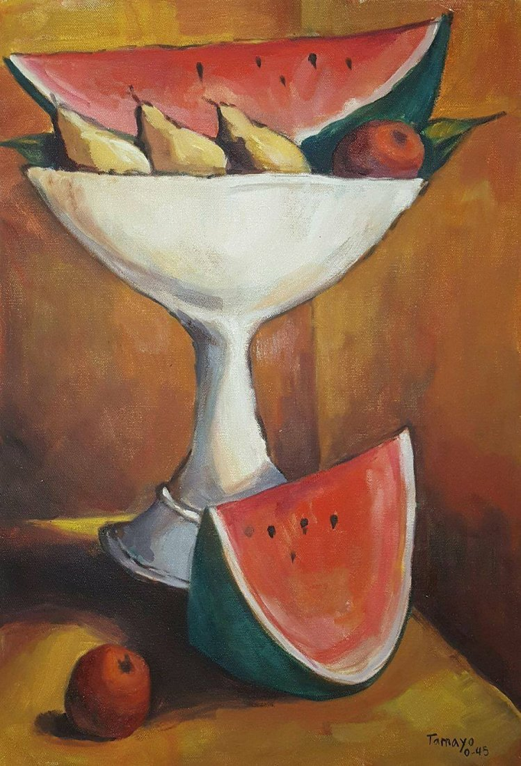 Rufino Tamayo (1899-1991)-Oil on Canvas- ATTRIB. COA-