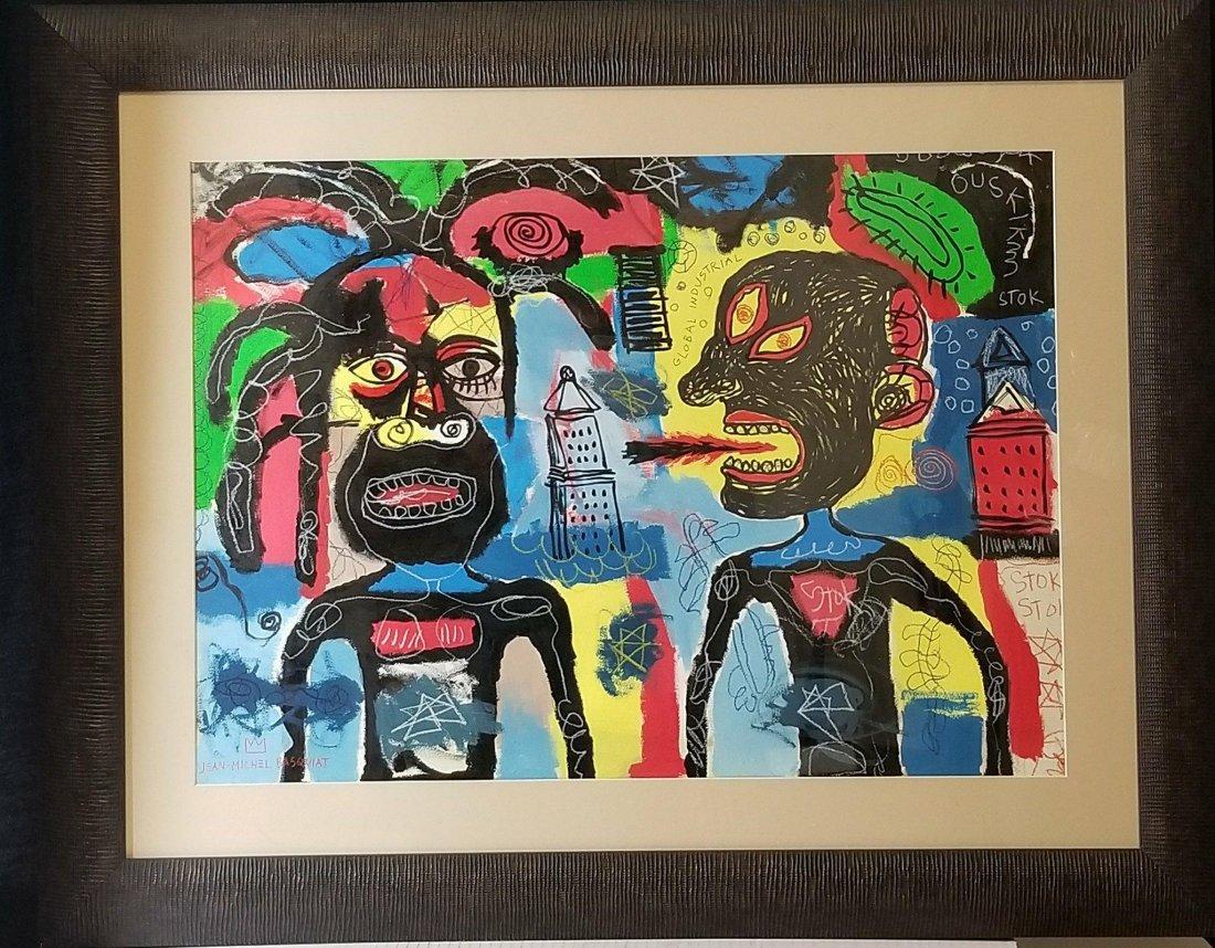 In the manner of: Jean Michel Basquiat (1960-1988)-