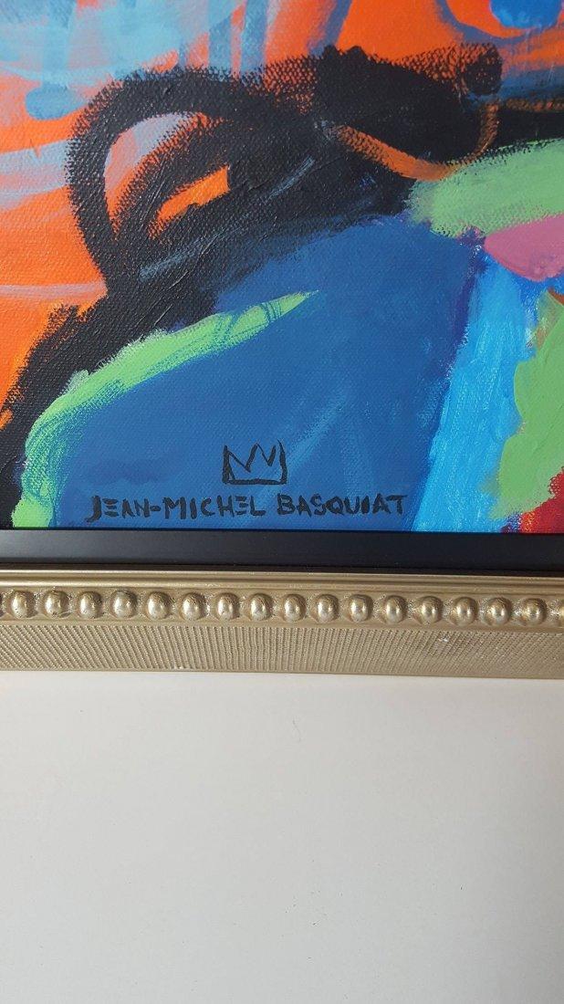 Jean Michel Basquiat (1960-1988)-attrib (coa)-Oil on - 2