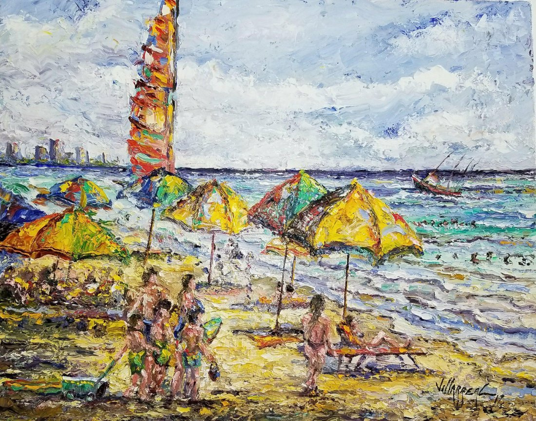 Sunny day on the beach, by Jose Villarreal ,