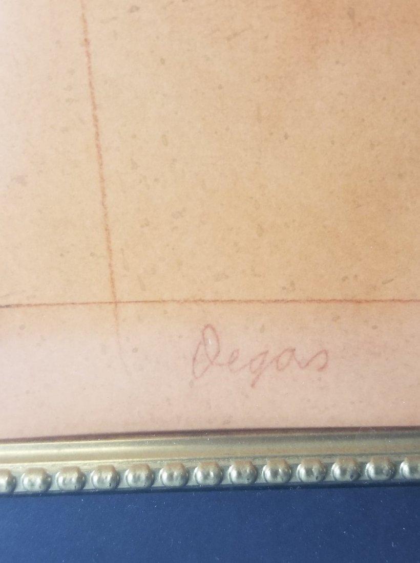 Edgar Degas-Girl dancer-Sanguinia  on paper(Attrib- - 2