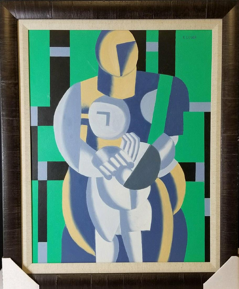Fernand Leger (1881-1955)-oil on canvas