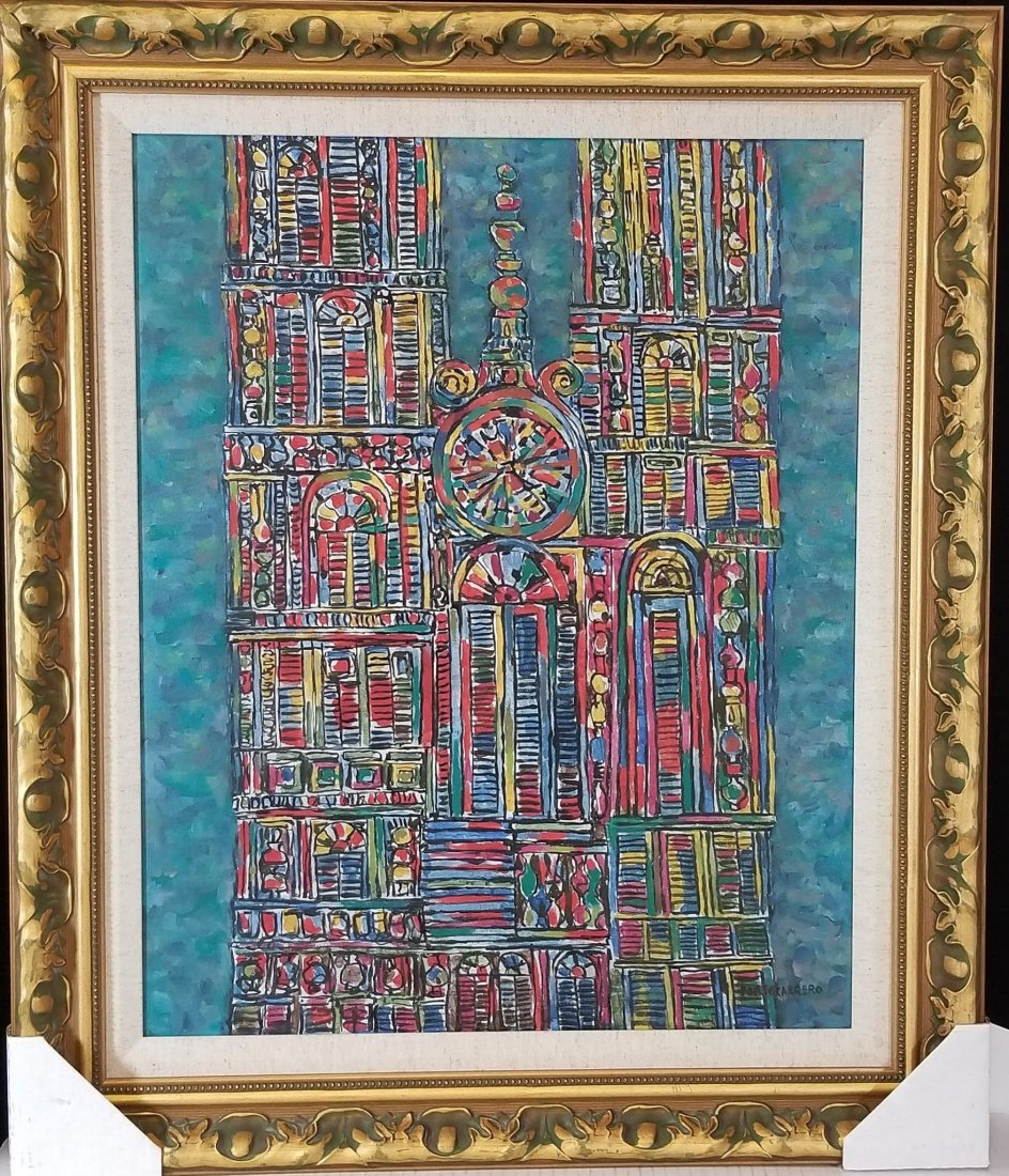 Rene Portocarrero (cuban)(1912-1986)(  oil on canvas