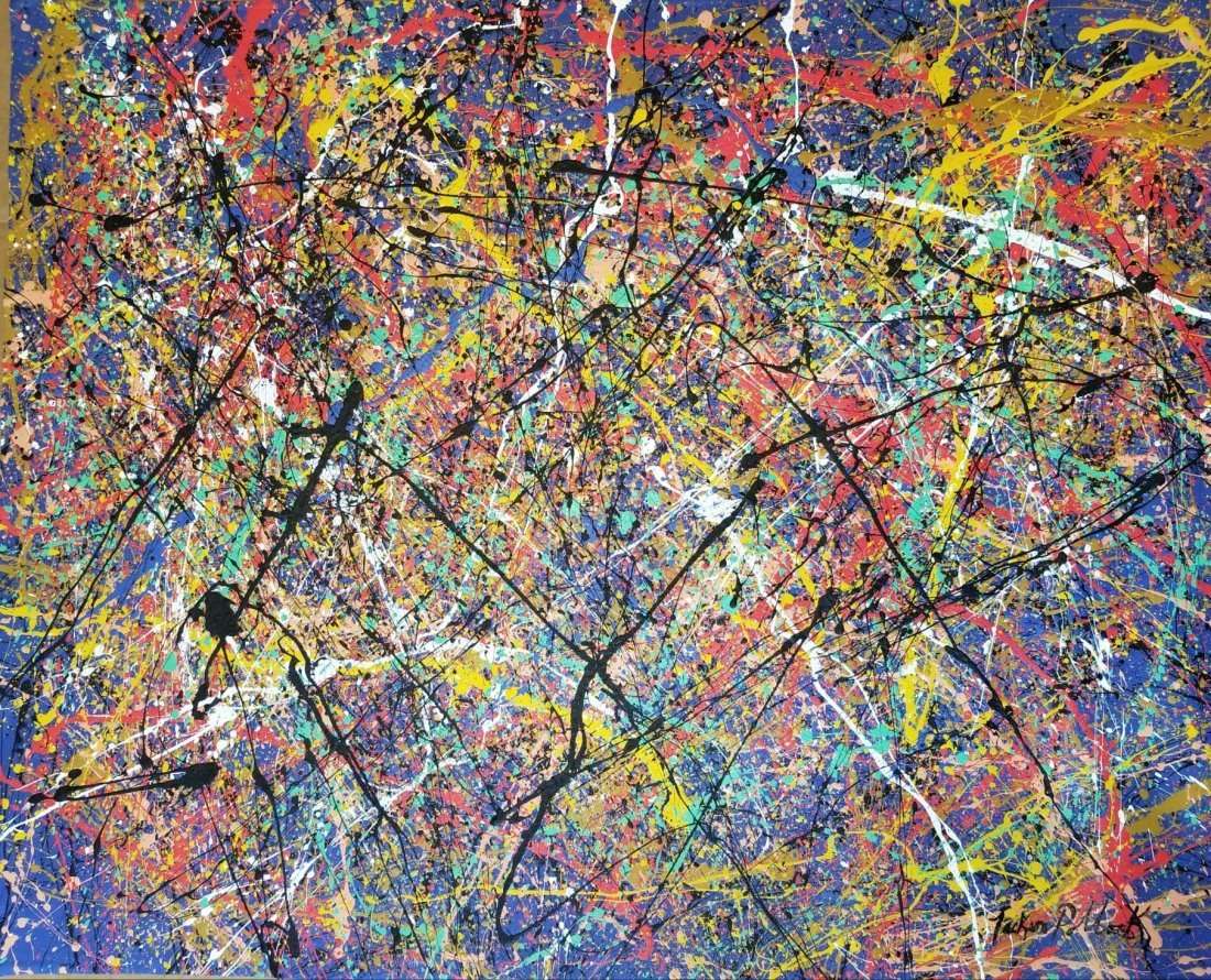 Jackson Pollock (1912-1956) House paint  on canvas