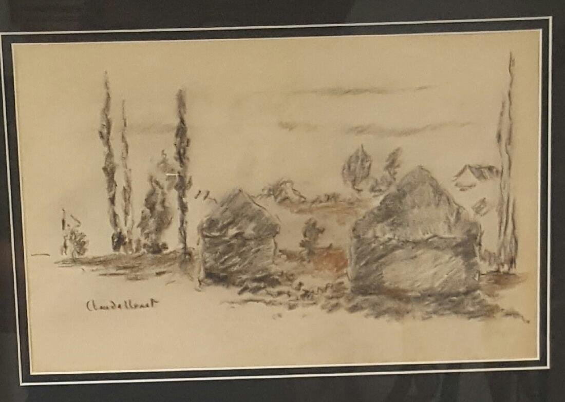 Claude Monet (1840-1926)- Mixed media on Paper- ATTRIB.