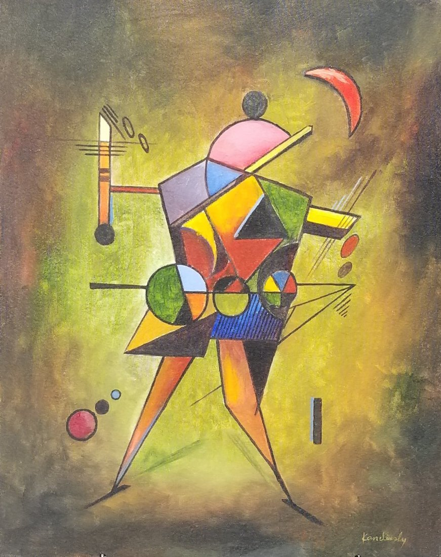 Wassily Kandinsky(1866-1944) was a Russian painter and