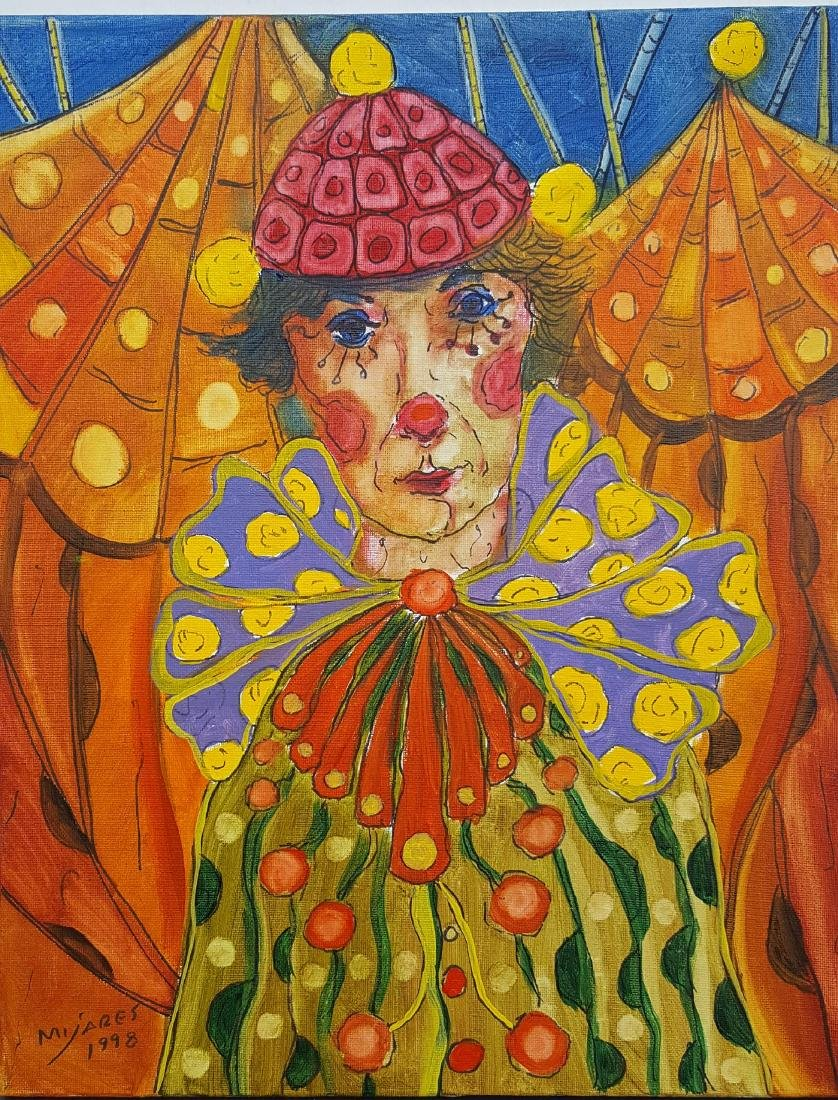 Jose Maria Mijares (1921-2004)-Oil on Canvas. COA-