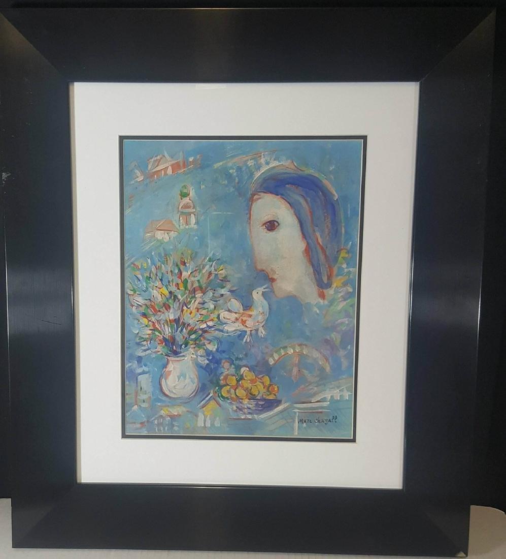 Marc Chagall (1887-1985)- Water color on Paper-ATTIB.