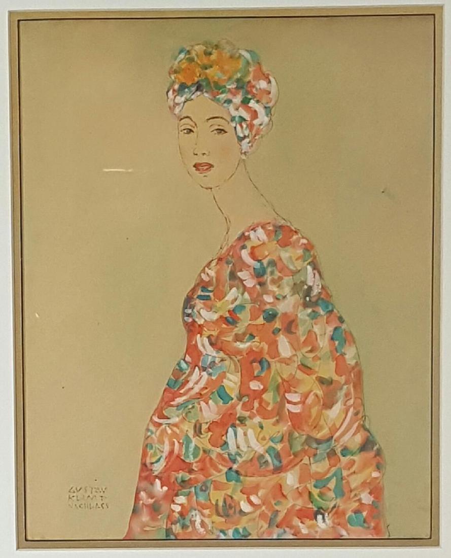 Gustav Klimt Nachlass (1862-1918)-(attrib)-Watercolor