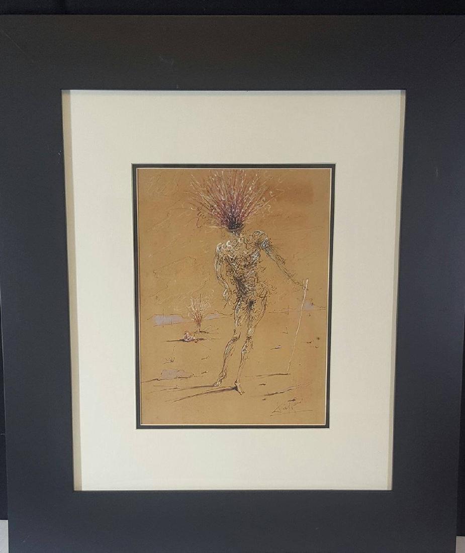 Salvador Dali (1904-1989)- Mixed Media On Paper-