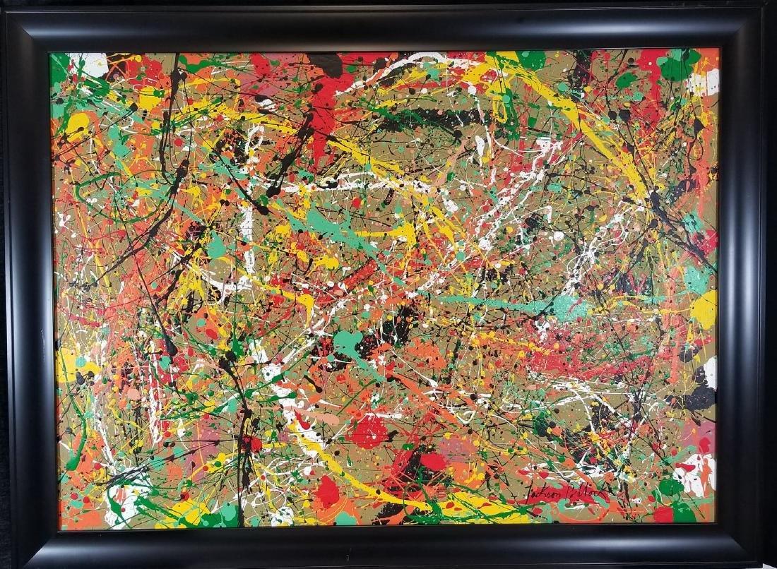Jackson Pollock (1912-1956) House paint  on canvas