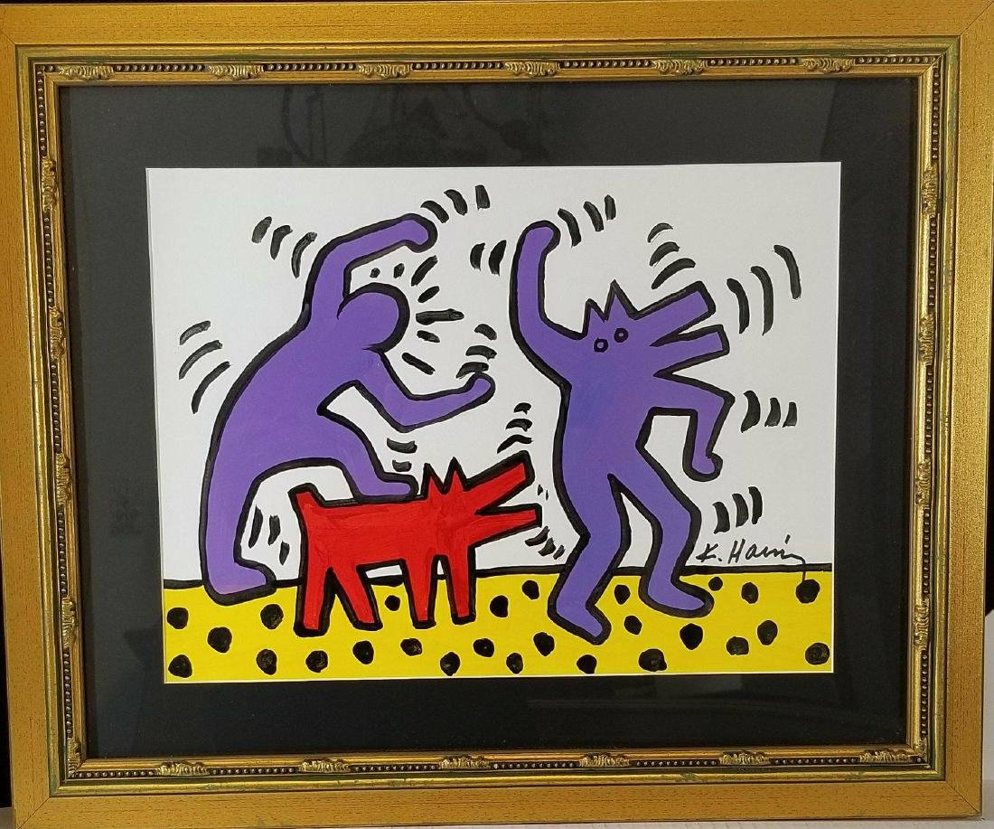 Keith Haring(1958-1990) Was the American artist whose