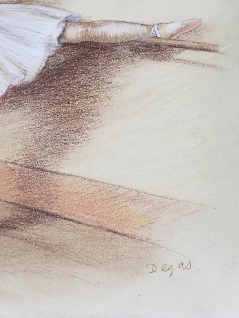 Edgar Degas-Girls dancer-Colored pastel/paper COA-Size: - 2
