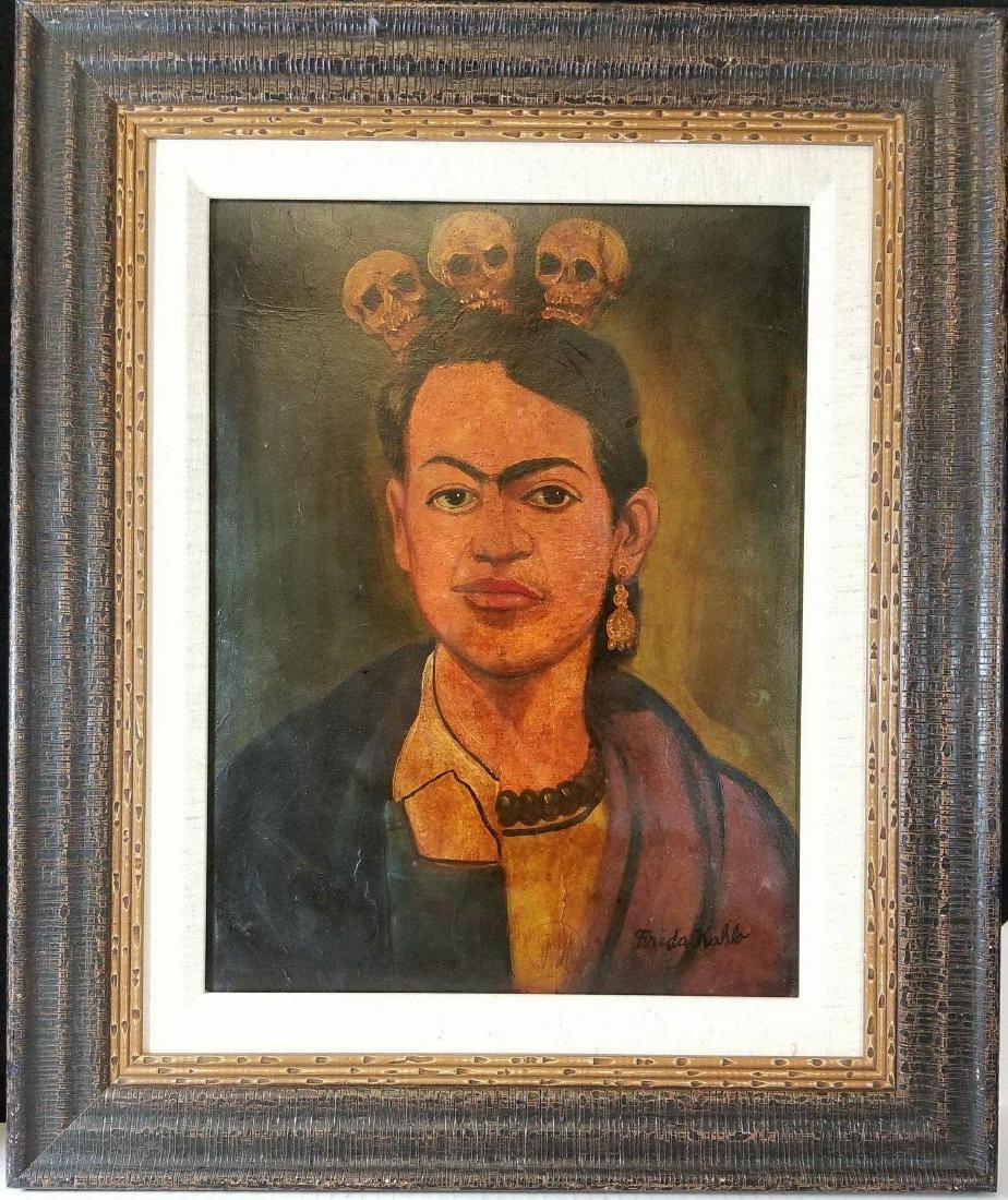 Frida Kahlo (1907-1954)-Oil on Canvas-ATTRIB.
