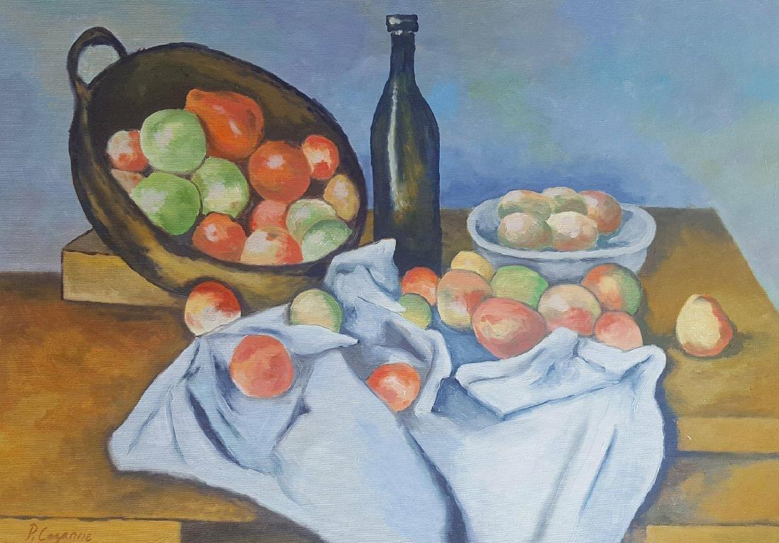Paul Cezanne (1839-1906)- attrib  ,coa .oil on canvas