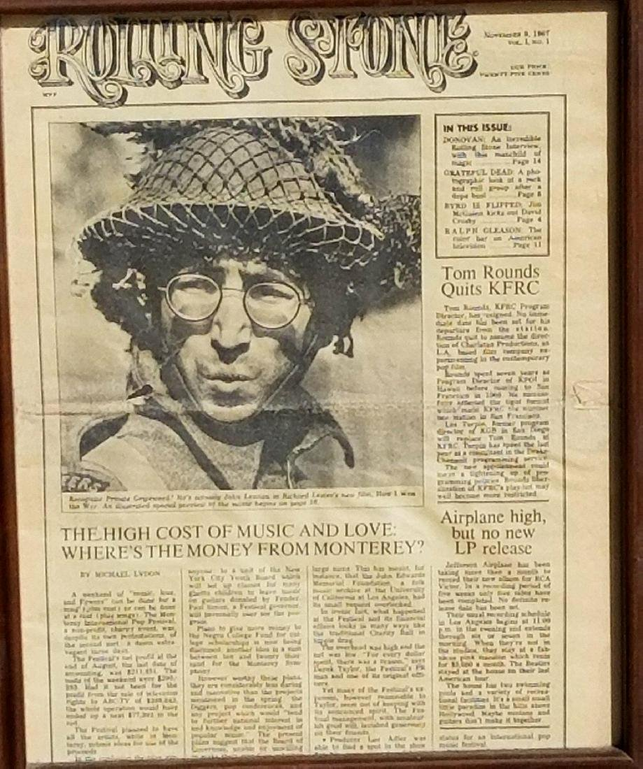 November 9, 1967, Vol. 1 No.1 Rolling Stone Newspaper.
