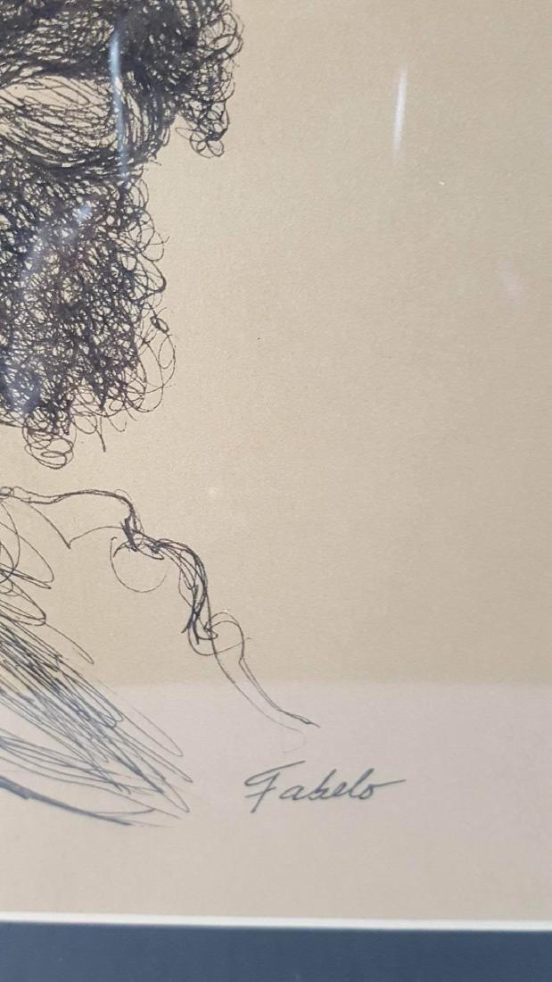 Roberto Fabelo  (1951-)- Ink on Paper-ATTRIB. COA-Size: - 2