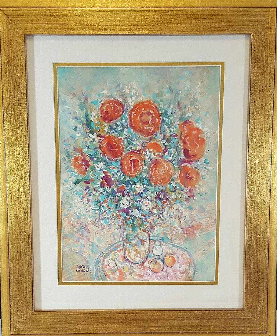 Marc Chagall-Untitled-Watercolor On Paper (Attrib.)COA-