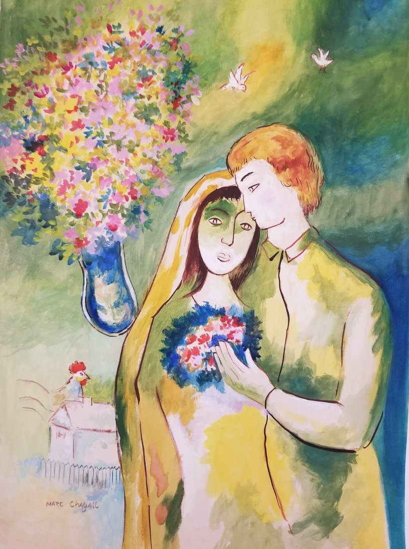 Marc Chagall-(1887-1985)Was a russian-French , Artist o