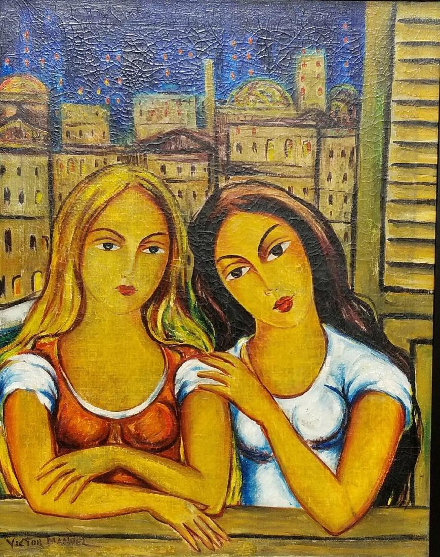 Victor Manuel -(1897-1969)-oil on canvas-Attrib.