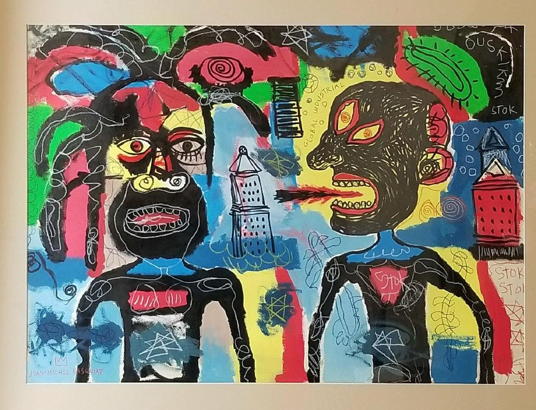In the manner of: Jean Michel Basquiat (1960-1988)-