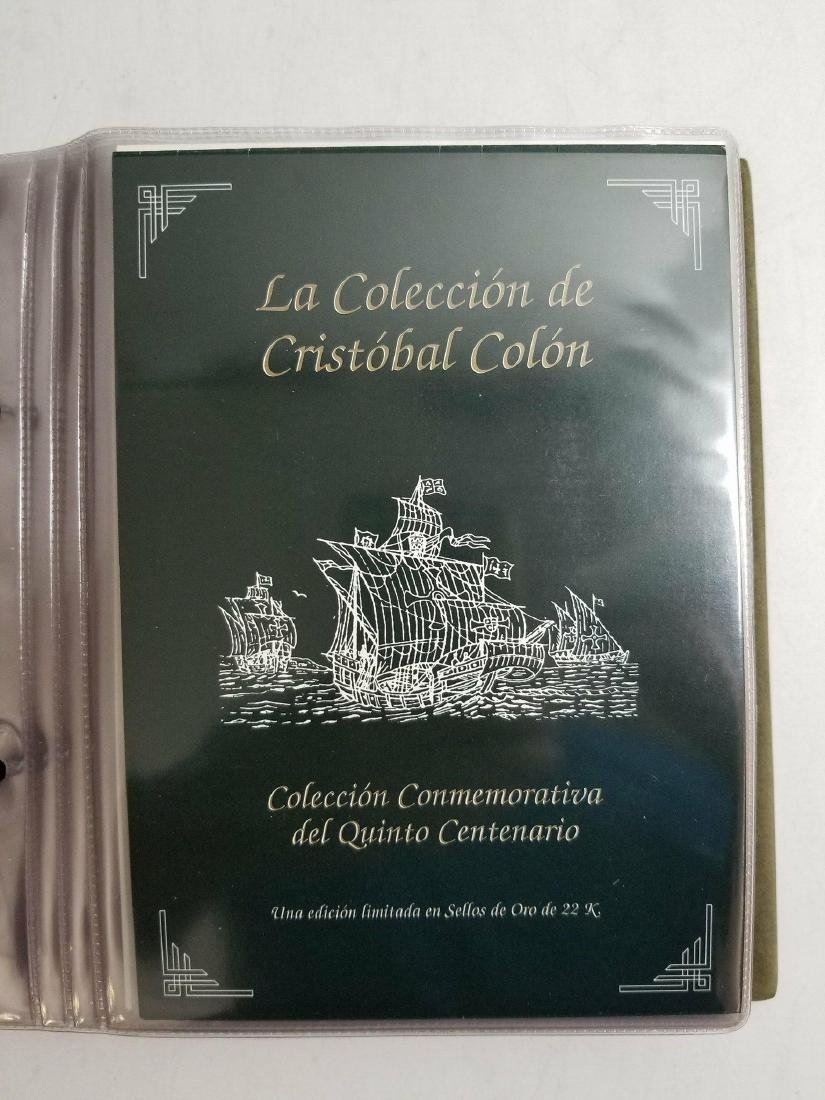 l Gold stamp of  Cristobal Colon collections
