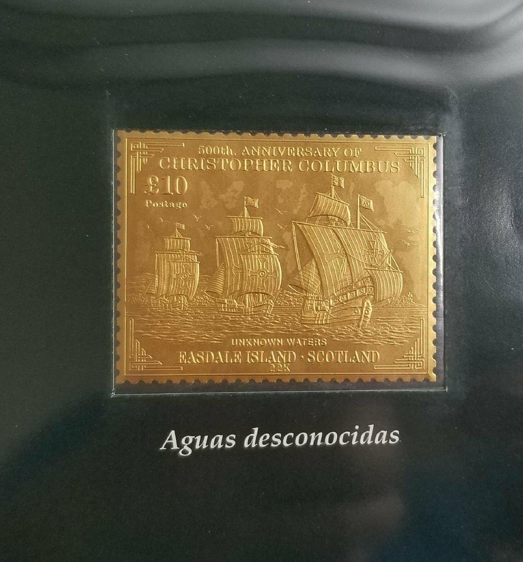 l Gold stamp of  Cristobal Colon collections - 6