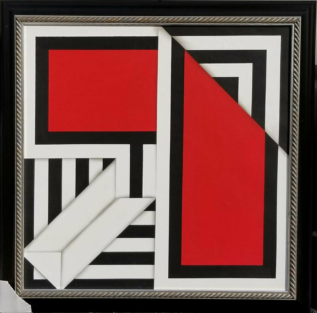 Omar Rayo (1928-2010) was a renowned Colombian Painter